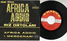 RIZ ORTOLANI  Africa addio OST raro disco 45 giri MADE in ITALY colonna SONORA