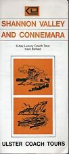 1970 Shannon Valley and Connemara Northern Ireland Brochure - Ulster Coach Tours