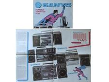 SANYO AUDIO BROCHURE 1984-1985 BOOMBOXES WALKMAN