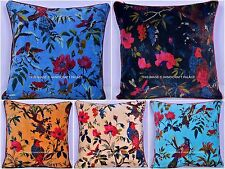 10 PC Lot Of Velvet Bird Print Cushion Cover Decor Pillow Covers Wholesale Lot