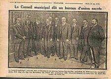 Adrien Mithouard président du conseil municipal de Paris Bureau d'Union WWI 1915