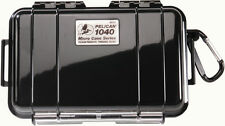 Pelican 1040 Solid Black Micro Case with Free engraved nameplate
