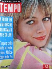 TEMPO n°24 1962 Catherine Spaak - Il bauletto n°24 di Mussolini  [C87]