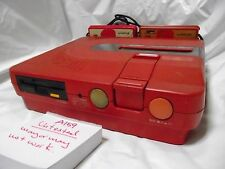 Free Shipping Untested Sharp Red Twin Famicom Console AN-500R NTSC-J Japan A159