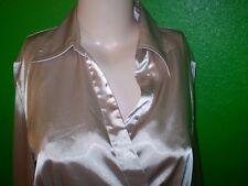 IZ BYER LIQUID SATIN SHIRT TOP DRESS SUIT BLOUSE LARGE