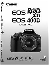Canon REBEL XTi EOS 400D Digital Camera User Instruction Guide  Manual