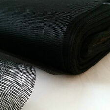 VERY SOFT FINE FILTER FABRIC-NYLON MESH-WATER STRAIN-MOSQUITO-1m x 300 cm-BLACK