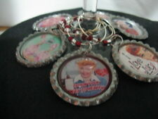 Classic Favorite TV Shows Wine Glass Charms ~ **Gift Idea