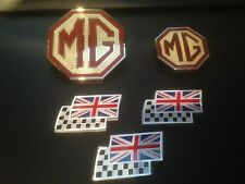 Mg ZT BADGE Upgrade GRIGLIA ANTERIORE, POSTERIORE & 3 CHEQUERRED e UNION JACK FLAG