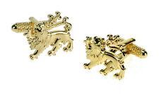 Gold British Lion Crest Dress Cufflinks NEW 10491
