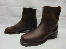 Durango Mens 10.5 Brown Oiled Leather Pull On Motorcycle Biker Work Ride Boots