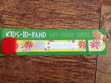 Kids ID band flowers Re usable BRACELET HOLIDAY CONTACT DETAILS autism ADHD