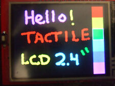 "Color TFT LCD 2.4"" Shield for Arduino, Touchscreen + Micro SD Card. UK SHIPPING"