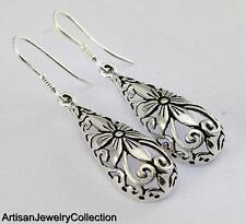 DANGLE EARRINGS 925 STERLING SILVER ARTISAN JEWELRY COLLECTION R703A