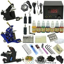 350pcs Professional 3 Tattoo Kit Gun Machine Set with Ink Grip Needles_TA080