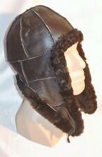 NEW! Sheepskin Russian Trapper Ushanka Bomber - Aviator Hat Unisex Real Leather