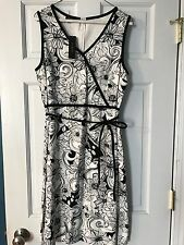 Talbots NWT Black And White Sleeveless Dress Size 12