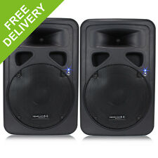 """2x 12"""" Inch Professional DJ PA Disco Party Sound System Active Speakers 1200W"""