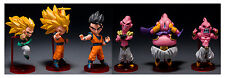 ACTION FIGURE TOY STATUE DRAGON BALL Z SET 6 PCS GOKU MAJIN BU GOTENKS GOHAN