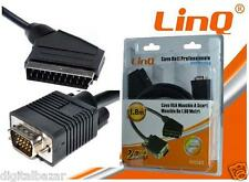 Cavo Convertitore Video Scart / VGA da 1.8 Mt Linq (12887)