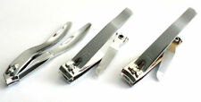 New 3pc Acrylic Nail Clippers Cutters Set Straight +Curved +Side Edges Cutting