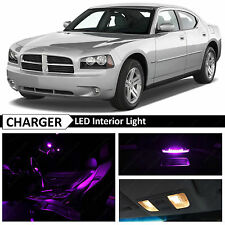 10x Purple LED Interior Light Package Kit for 2006-2010 Dodge Charger