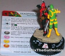 DEADPOOL AND BOB #049 word bubble SHEEP GUN #W007 Deadpool HeroClix Super Rare
