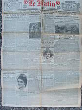 LE MATIN (10/6/1921) Attentat criminel Choisy le Roi - Dictateur Korfanty -