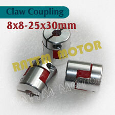 3 8x8mm Flexible Jaw Clamp Shaft Plum Coupling CNC Stepper Motor Coupler D25 L30