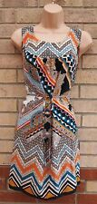 EVANS TRIBAL MULTI COLOR PAISLEY PRINT BELTED TUNIC BLOUSE LONG TOP CAMI 18
