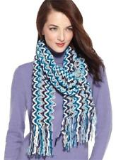 Charter Club Soft Chenille Chevron Zig Zag Multi Blue Long Scarf BNWT RRP$42