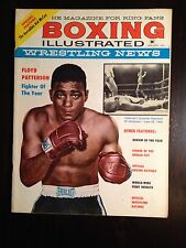 January 1961 BOXING Illustrated Wrestling News Magazine FLOYD PATTERSON