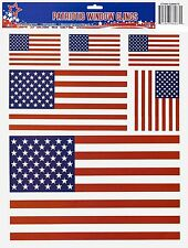 Window Clings American Flags Lot of 2 (NEW)