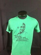 "Gandhi T-Shirt ""No one can hurt me without my permission""  ""XL"""