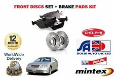FOR LEXUS GS300 GS430 3.0i 1993-12/2001 NEW FRONT BRAKE DISCS + DISC PADS SET