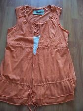 Orange sleeveless tunic style cotton top from Next, Size 14