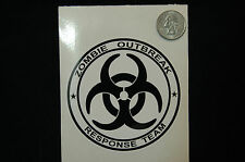 2x ZOMBIE OUTBREAK RESPONCE TEAM STICKER DECAL BIOHAZARD Car Truck boat Laptop