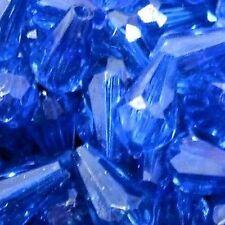 25g Cobalt Blue Acrylic Teardrop Beads 12x6mm - A5370