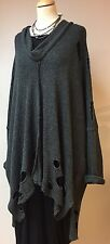 *AMAZING LAGENLOOK BAGGY OVERSIZE JUMPER/TUNIC HOLEY QUIKRY ANY SIZE OSFA L/XXL