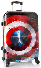 "Heys America Luggage Marvel Captain America 26"" Spinner 4 Wheeled Suitcase NEW"