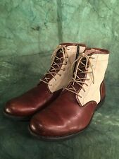 Vintage Timberland Eathkeeper  Leather  And Canvas Boots UK 10.5
