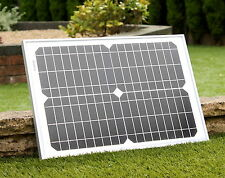PK Green 20w Monocrystalline Solar Panel 12V with Blocking Diode 3M cable