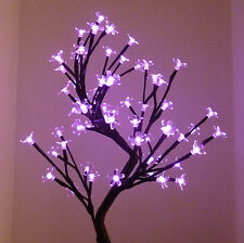 80CM 128LED PINK BONSAI CHERRY BLOSSOM CHRISTMAS OUTDOOR TREE