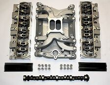 OLDSMOBILE ALUMINUM HEADS AND INTAKE COMPLETE ULTIMATE TOP END KIT 400,425,455