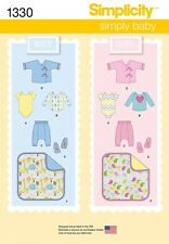 Simplicity Pattern 1330 Babies' Separates, Booties & Blanket baby clothes