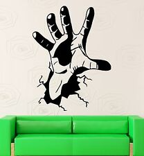 Wall Stickers Hand Crack Joke Funny Cool Room Decor Bedroom Vinyl Decal (i1027)