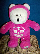 STARBUCKS BEARISTA BEAR - SPEC ED, HALLOWEEN 2005 - PLUSH, PINK, SKELETON - VGC
