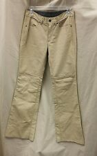 Diesel  Leather Trousers Pants 27 Waist Used as is Tan ladies men's ????