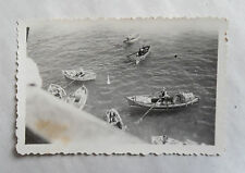 Vintage 40s/ 1947 B/W Photograph. Bumboats/ Bum Boats. Port Said (Egypt)