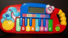 BLUE'S CLUES Learn & Play Toy  PIANO / KEYBOARD Musical RETIRED 2000 MATTEL